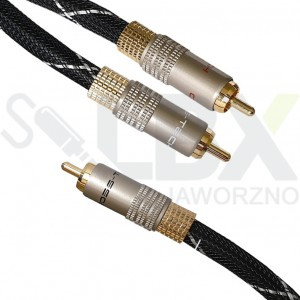 kabel 1 RCA - 2 RCA typ Y do subwoofera Cross-Tech
